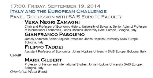 Evento 19 settembre 2014