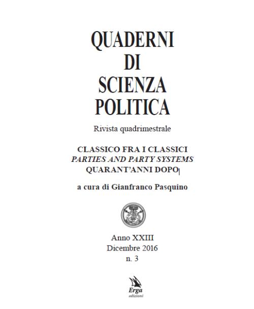 QUADERNI DI SCIENZA POLITICA - ISSN 1124-7959 Anno XXIII - n. 3 Dicembre 2016
